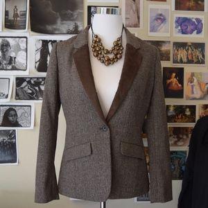 HIVE & HONEY brown wool blazer MEDIUM